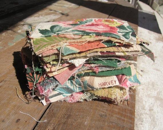 vintage fabric scraps