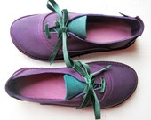 CUSTOM Hand Made Leather Womens Shoes, Lace Up Oxford Shoes, KITTY by Fairysteps Shoes