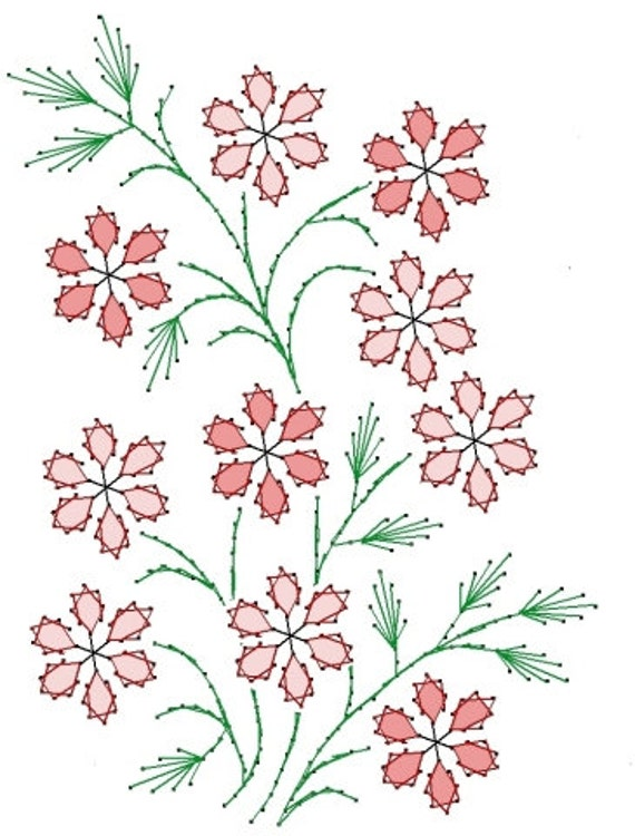 Floral Designs For Embroidery Free Hand