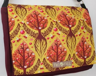 Burgundy TREE Of Life MESSENGER Book iPad Laptop Diaper BAG