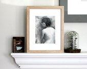 black and white nude portrait fine art signed print