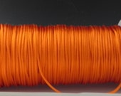 10 yards 2mm Orange Satin Rattail Cord
