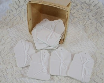 CLEARANCE - Large White Merchandise Tags - bundle of 10