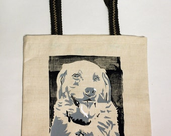 Locally Constructed and Screen Printed Tote Bag