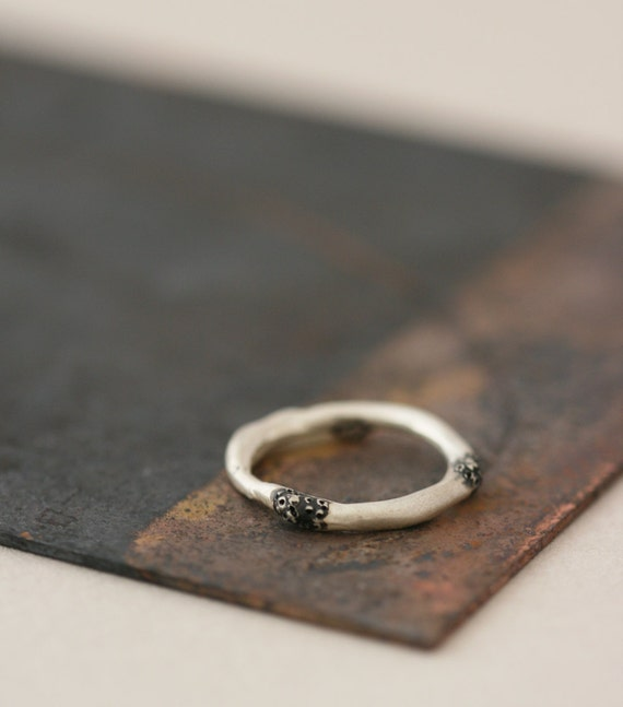 Spore Ring No. 6 - Oxidized Sterling Silver Ring