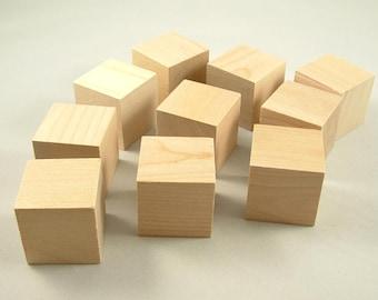 26 Unfinished Wood Blocks - 1.5 inch - Wooden Blocks - Cube - Alphabet Blocks - Square Blocks - Baby Shower
