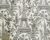 RARE Michael Miller EIFFEL TOWER Ivory France Paris Quilt Fabric by the Yard - French - Out of Print - zeetzeet