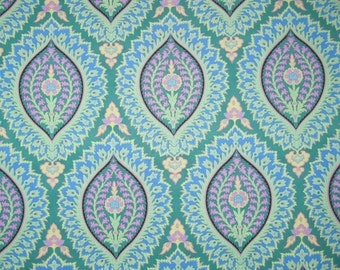 "IMPERIAL PAISLEY Emerald  Amy Butler ALCHEMY Cotton Quilt Fabric - Precut Remnant 26"" x 45"" Last Piece"