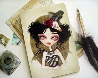 Countess Nocturne Gothic 4 x 6 Postcard