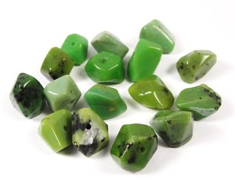 11-13mm Chrysophrase Gemstone Nuggets Beads NU100