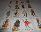 Vintage Whitman Old Maid Miniature Game Cards for Scrapbooking
