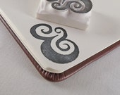 fancy pants ampersand - hand carved stamp