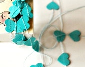 Tiny Hearts Stitched Paper Garland in a Box Blue