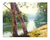 TUMUT RIVER Oil Painting landscape fine art by G.Gercken