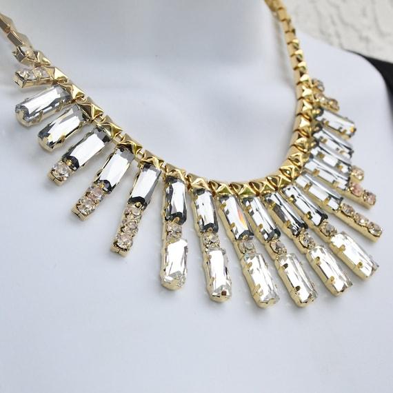 statement necklace stunning grey bib necklace by orientwalker