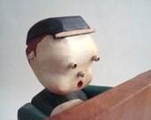 Vintage Wood Bookend