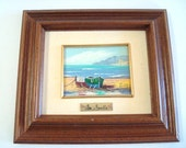 Vintage Sea Oil Painting From Torrejon Spain