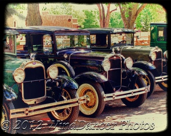 Life in the Valley, Fine Art Photo, Ford Model A's, Vintage Fords, 16x20 Matted Photo, Retro, Americana,  Gift for Men, Classic Car Photo
