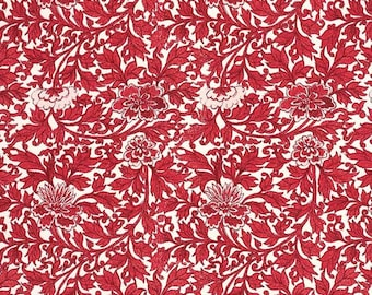 Made In Italy Authentic Florentine Paper Red Floral Tassotti  T534R
