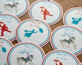 Mary Poppins Carnival Party Favor Tags Birthday Favor Tags Jolly Holiday set of 12 by Belleza e Luce
