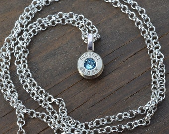Bullet necklace..... Silver Federal .40 S&W pendant necklace with Swarovski crystal