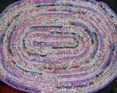 Oval Crocheted Rag Rug