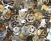 30g under 30 Dollars Gears MIX Steampunk Watch Parts Pieces Vintage Antique Cogs Wheels