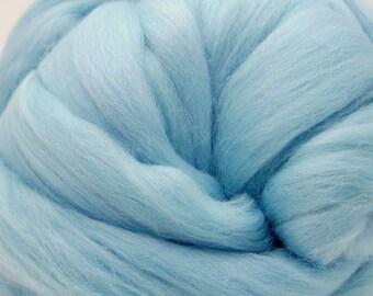 4 oz. Merino Wool Top - Iceberg Blue - Ships Free