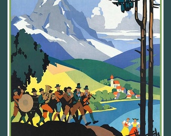 Vintage Travel Poster for Austria Refrigerator Magnet - free US shipping