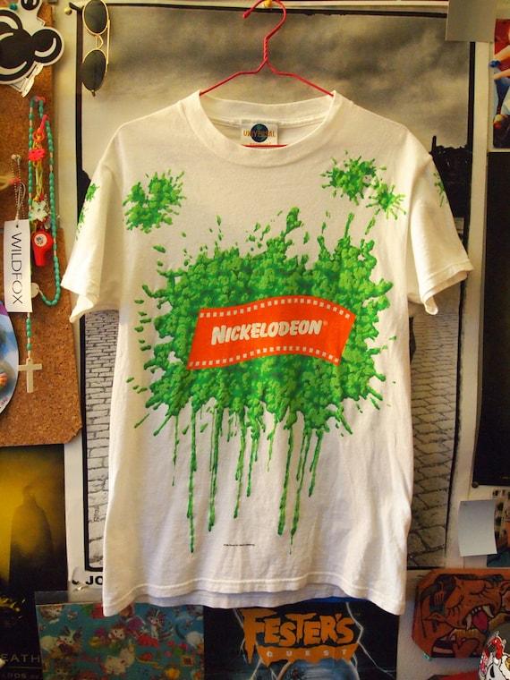Nickelodeon Slime Vintage 90s Green Slime Show Neon Shirt S