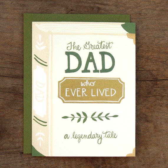 Greatest Dad Illustrated Card