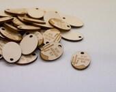 Wood hang tags - 50 units - custom cut any shape and engraved