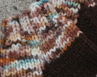 Tri Striped Hand knit Socks Size 6 - 6 1/2 One of Kind