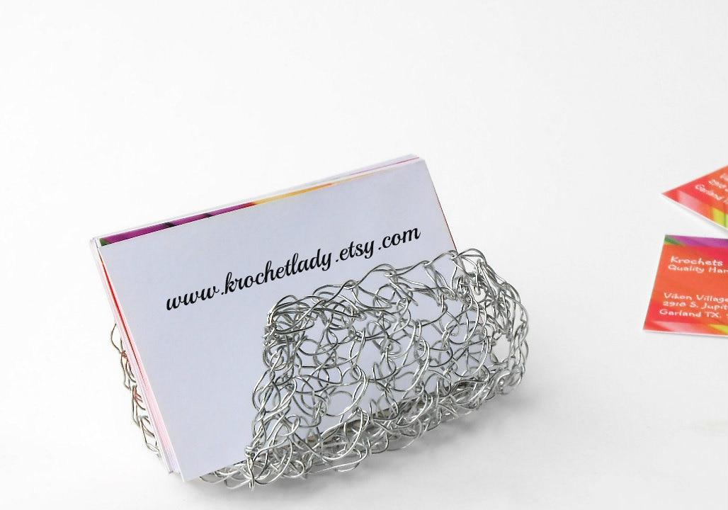 Desk Accessories Handmade Silver Business Card Holder