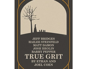 True Grit Coen movie poster in various sizes