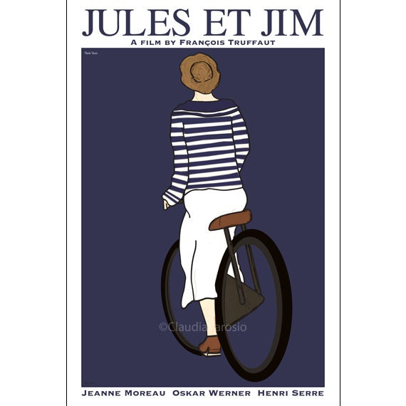 Jules et Jim 12x18 inches movie poster