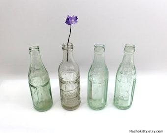 4 Soda Water Bottles | Vintage Crystal Springs | John Graf | Wisconsin