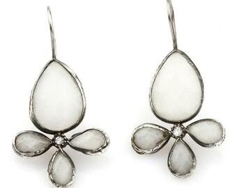 White jade Stones Earring