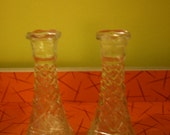 2 Wexford Glass Bud Vase Candle Holders Anchor Hocking