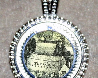 Shakespeare GLOBE THEATER Pendant