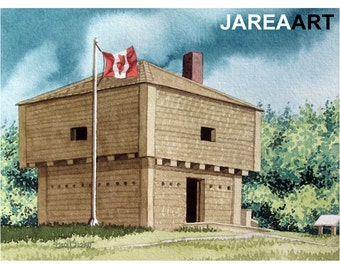 St. Andrews Blockhouse, St. Andrews, New Brunswick, Canada Reproduction Print