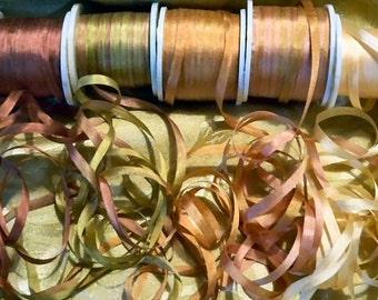 Lovely Old Rose 4mm Silk  ribbon 25 yard  combo pack