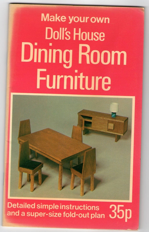 Make Your Own Doll 39 S House Dining Room Furniture By Dixabilly