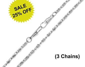 "3pc - 48"" (120cm) Nickel Purse Chain - Free Shipping (CHAIN CHN-104)"