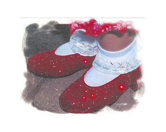 Pop Art Print * by Rodriguez * RUBY RED SHOES * Wall Hanging