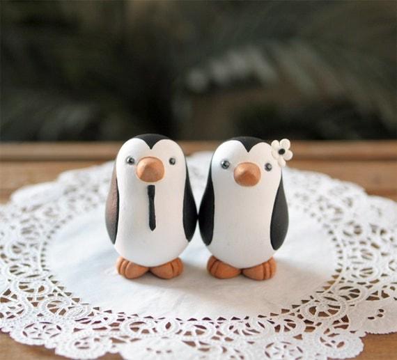 Penguin Wedding Cake Topper - Small