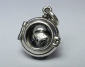 SILVER SNAKE LOCKET solid sterling silver with serpent insert