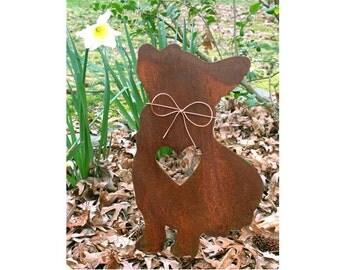 Corgi Dog Metal Garden Stake - Metal Yard Art - Metal Garden Art - Pet Memorial - 1