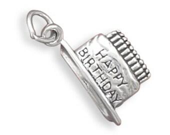 Sterling Silver Birthday Cake Charm