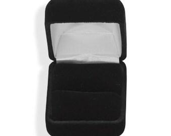 Ring Box, Black Velvet Ring Box, Ring Storage Box, Ring Display Box, Black Ring Box, Engagement Ring Box, Single Ring Box, Jewelry Box